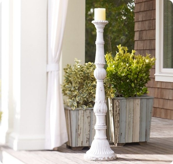 floor standing candle pillar  want these in glossy teal for our bedroom!