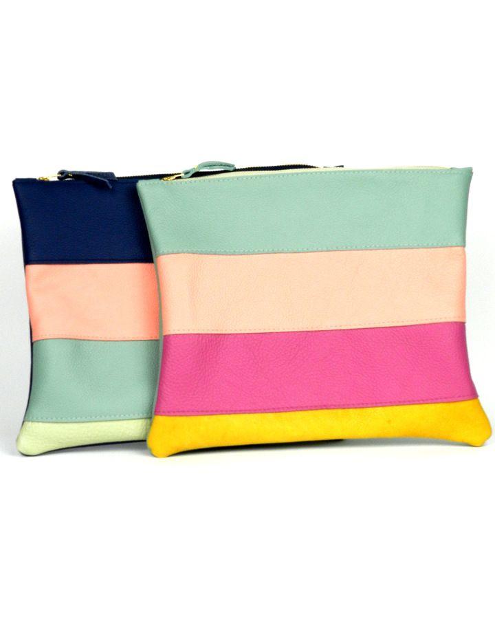 Summer Stripes clutch