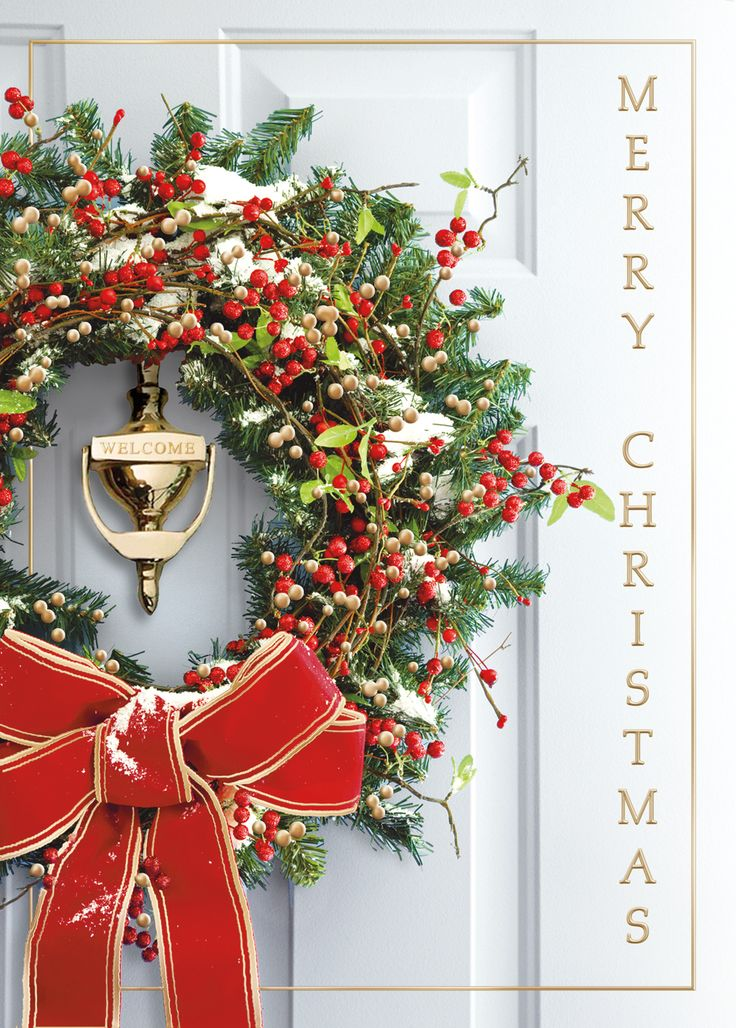 19 best wreath-christmas-cards images on Pinterest | Business ...