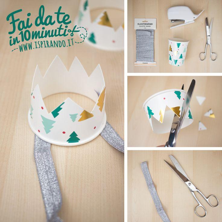 Creare cappellini per le feste con i bicchieri di carta - Ispirando