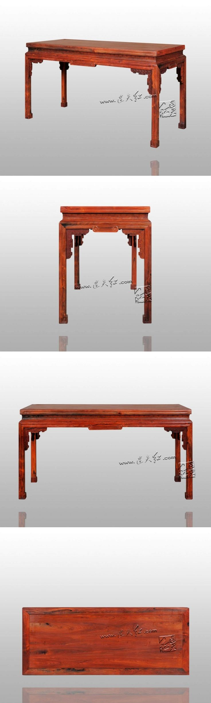 Chinese Classical Fylfot Mosaic Drawing Desks Solid Wood Book Table House Furniture Writing Study Desk Burmase Rosewood redwood