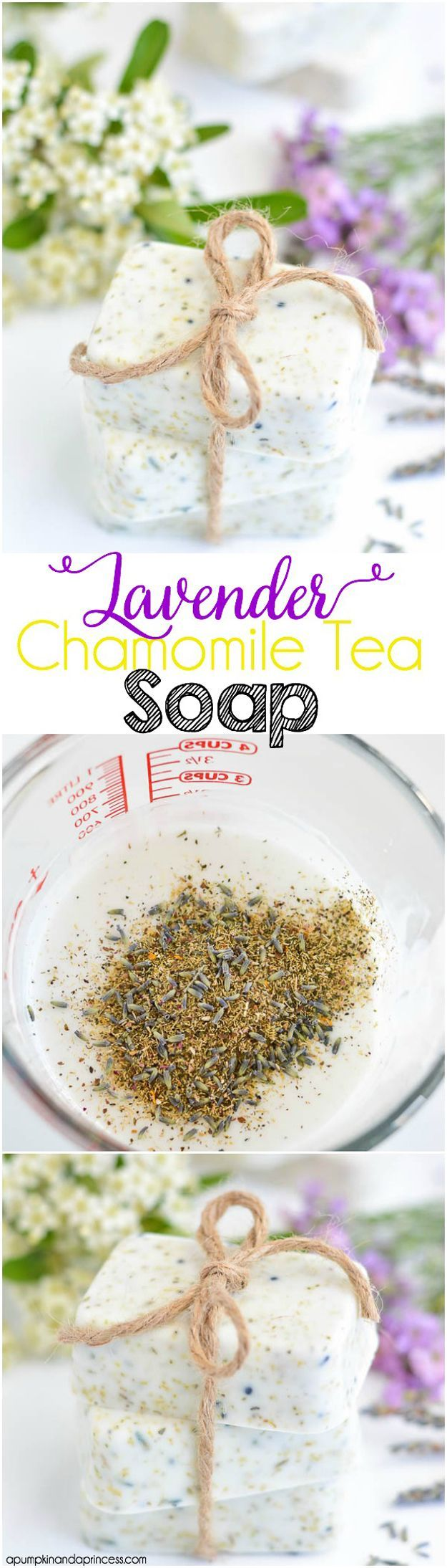 DIY Bar Soap: Lavender Chamomile Tea Soap | DIY Homemade Cool Mother's Day Ideas by DIY Ready at  http://diyready.com/diy-gifts-mothers-day-ideas/