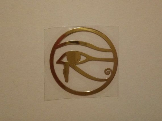 Eye of Ra Sticker Horus Eye golden sticker https://www.etsy.com/it/listing/295053693/eye-of-ra-golden-sticker-beautiful?ref=listings_manager_grid  Occhio di Ra adesivo Ojo de Horus pegatina