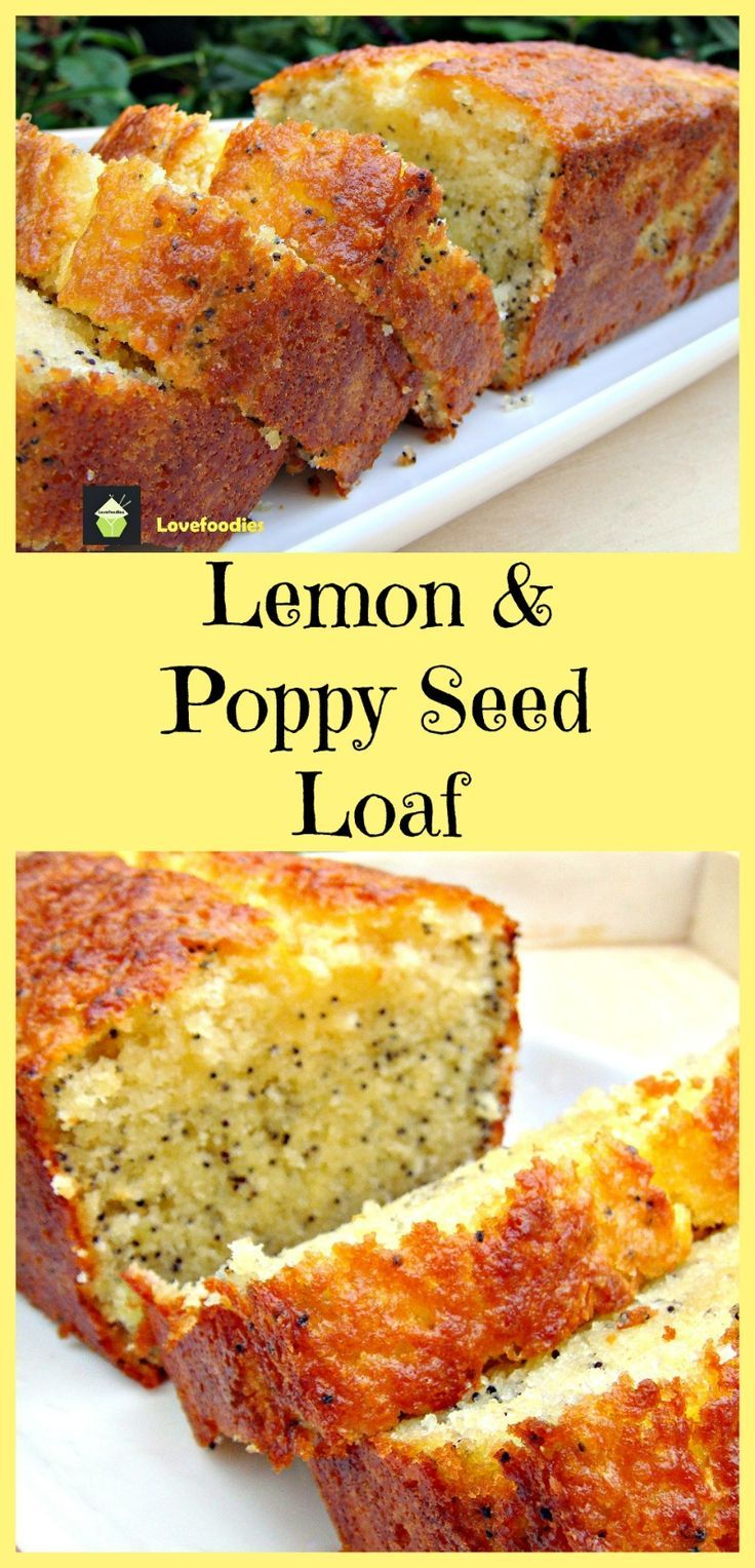 Moist Lemon & Poppy Seed Loaf. A wonderful gentle flavored, soft cake, perfect with a cup of tea! This is a lovely cake for freezing, either in slices or as a whole!