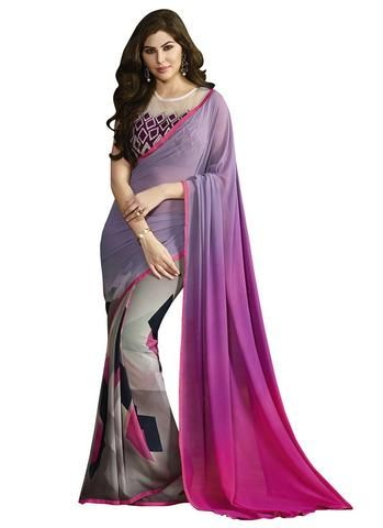 Purple Color Georgette Saree    #Sarees #Saris #Fashion #looking #popular #Offers #deals #zinngafashion #Trending #Fashionable #Offers #Deals