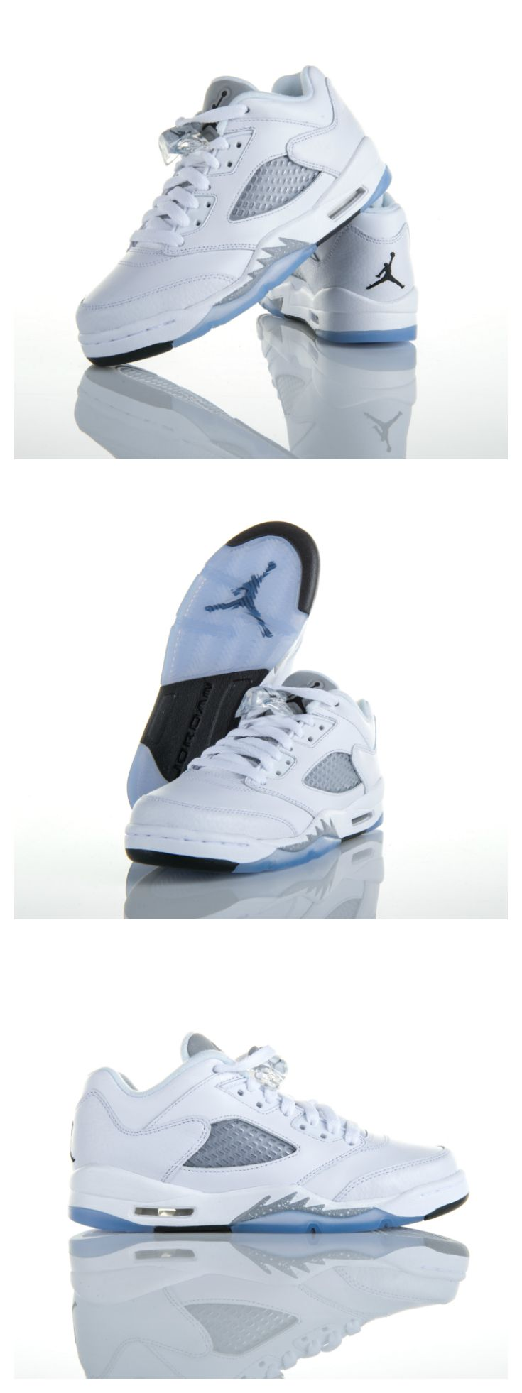 Shine with every step in the girls' Jordan Retro 5 'Metallic Silver'.