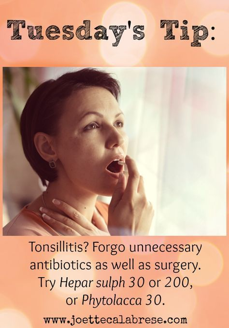 Today's Tip offers help for tonsillitis even in instances when surgery is recommended. ~joettecalabrese.com