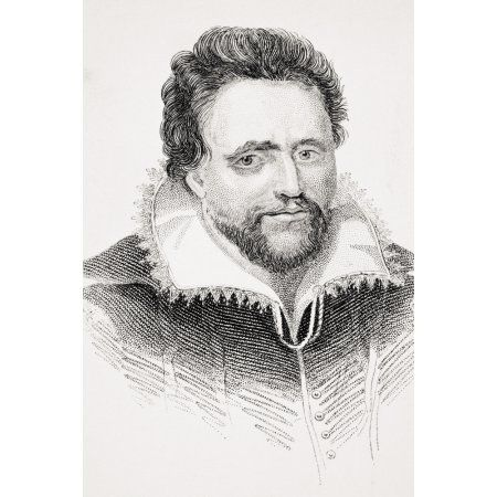 Ben Jonson Aka Benjamin Jonson 1572-1637 English Jacobean Dramatist Lyric Poet And Literary Critic From Old Englands Worthies By Lord Brougham And Others Published London Circa 1880s Canvas Art - Ken