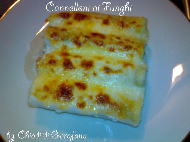Cannelloni ai funghi
