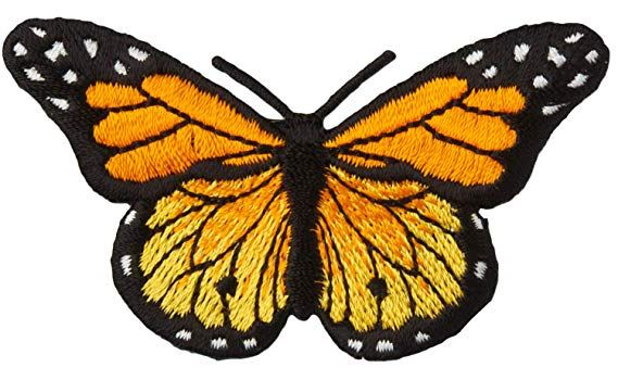 MONARCH BUTTERFLY SMALL Iron On Patch Butterflies Small