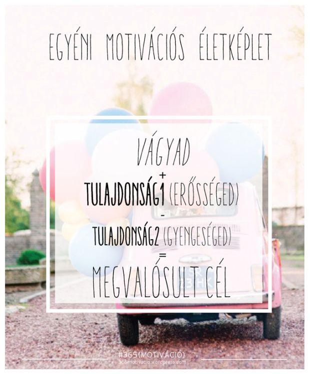 #41 | Motivációs életképlet Motivációs blog | 365motivacio.wordpress.com Ha elakadsz egy élethelyzetnél és szükséged van egy hatásos önsegítő módszerre, akkor állítsd fel és oldd meg a személyes Motivációs Életképletedet!