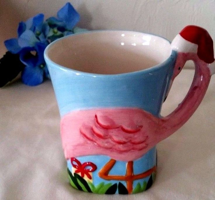 Tropical Pink Flamingo Christmas Holiday Mug Cup Coffee Tea Hot Cocoa | Home & Garden, Kitchen, Dining & Bar, Dinnerware & Serving Dishes | eBay!