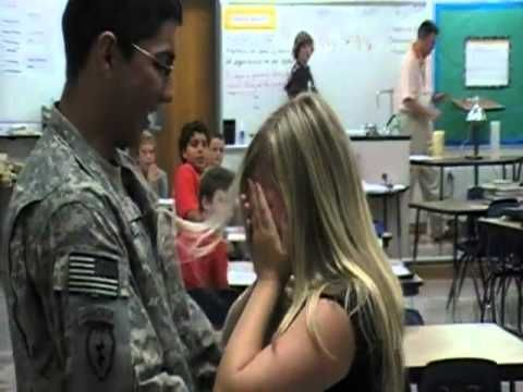 Soldier Surprises Younger Sister At School, Tears Follow