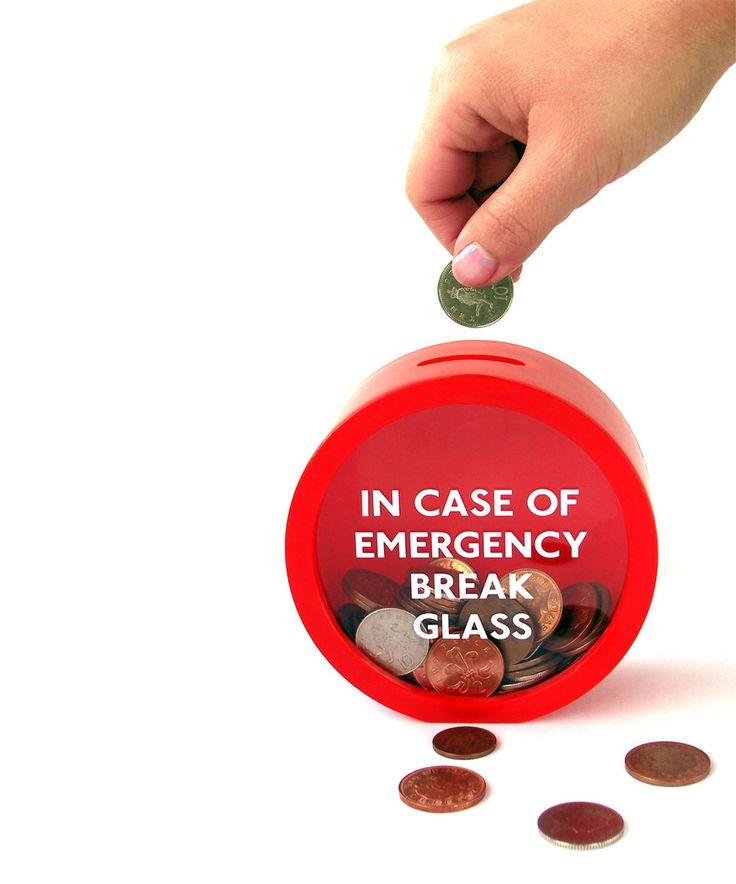 Another great find on #zulily! 'Emergency' Money Bank by Suck UK #zulilyfinds