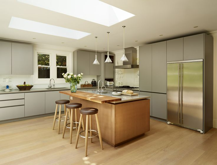 Roundhouse Urbo matt lacquer kitchen Burnished Bronze island