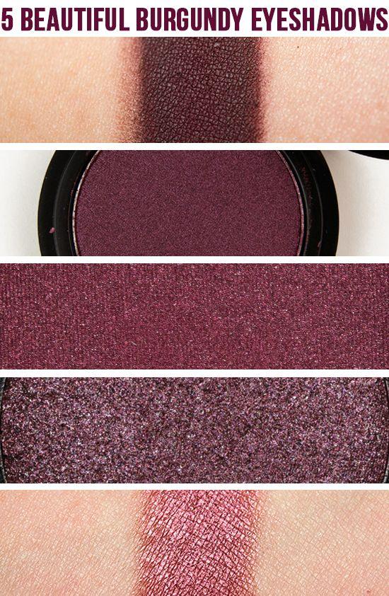 5 Beautiful Burgundy Eyeshadows