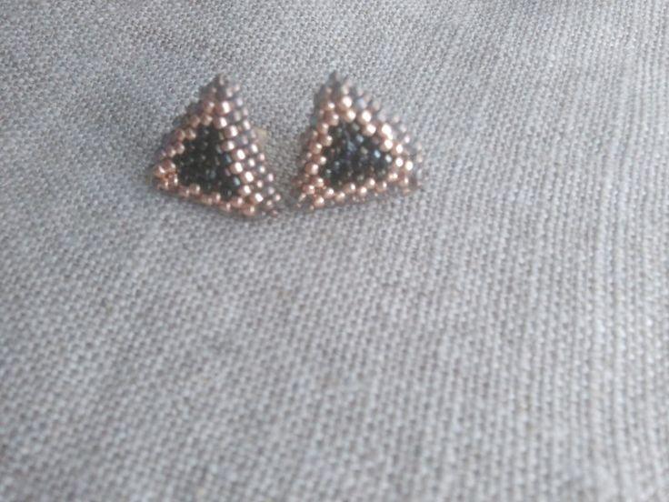 Orecchini a lobo - orecchini Triangolo 1.0 - un prodotto unico di FranciRiCi su DaWanda