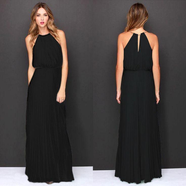 Women Summer Long Sexy Party Dresses 2016 Elegant Sleeveless Maxi Dress Casual…