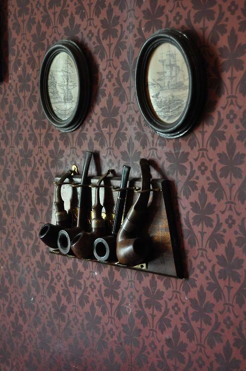 Sherlock Holmes inspired wall art.                                                                                                                                                                                 More