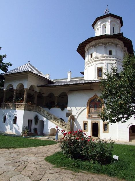 Founded in 1690 by Prince Constantin Brancoveanu, the monastery of Horezu, in Walachia, is a masterpiece of the 'Brancovenesc' style. It is known for its architectural purity and balance, the richness of its sculptural detail, the treatment of its religious compositions, its votive portraits and its painted decorative works.