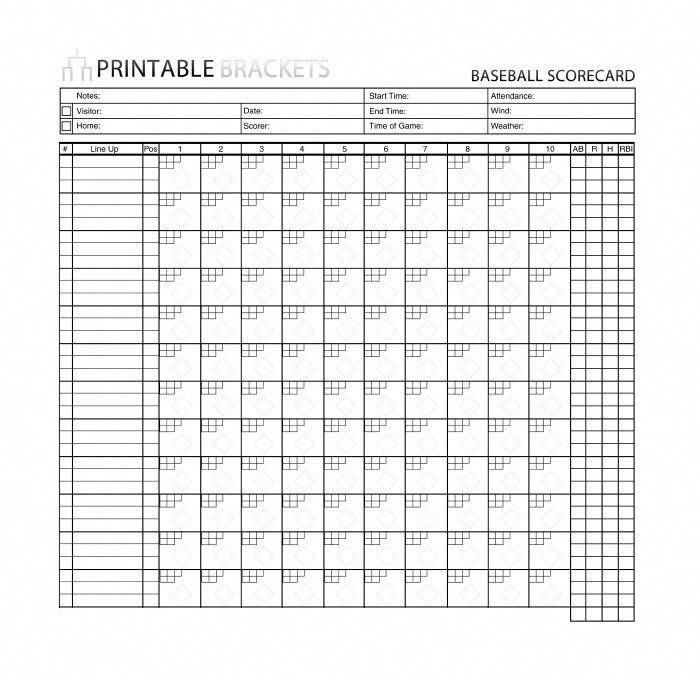 image about Baseball Score Sheet Printable named Baseball Rating Sheet - 30+ Printable Baseball Scoresheet