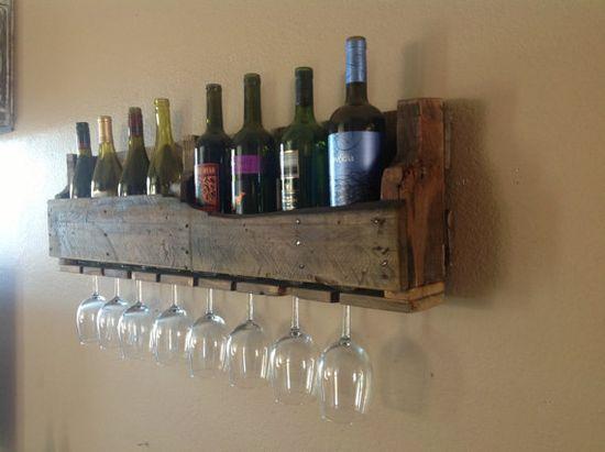 Isabella Reclaimed Wood Wine Rack.