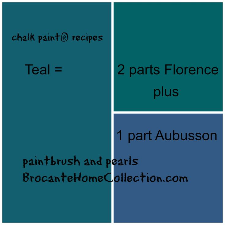 "another version of ""teal"", this time from florence and aubusson #brocantehomecollection #chalkpaintrecipes"