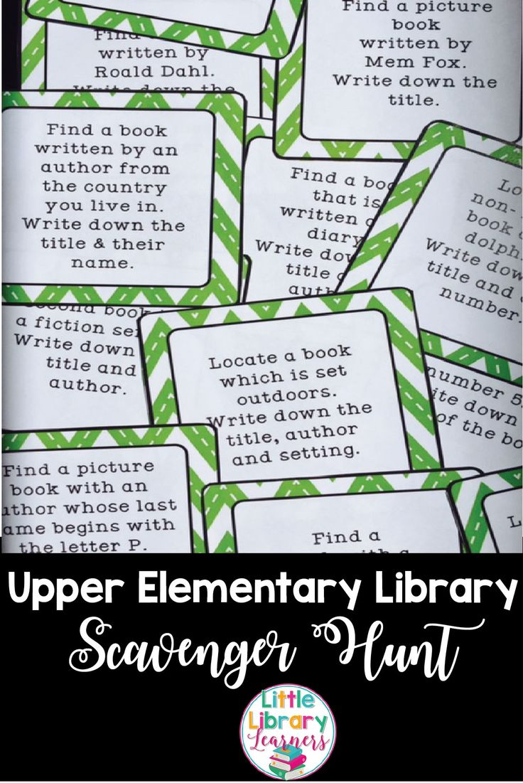 Library Scavenger Hunt cards for upper elementary students are the perfect activity for engaging students. I love that these task cards require very little prep, and once made, can be used over and over again to teach your students how to locate information in the library.