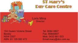 business cards for day care centre  Kogarah