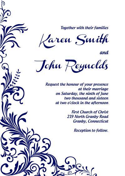211 best Wedding Invitation Templates (free) images on Pinterest - invitations templates