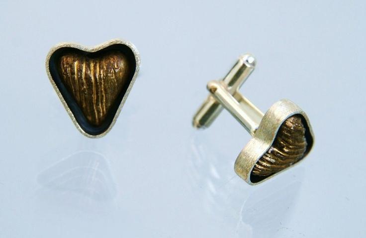 Spinki od serca www.gulbierz.pl #jewellery #ceramika