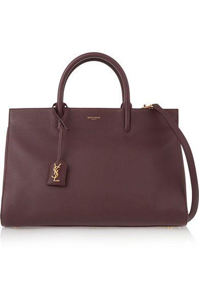 Saint Laurent | Monogramme Cabas medium leather tote | NET-A-PORTER.COM