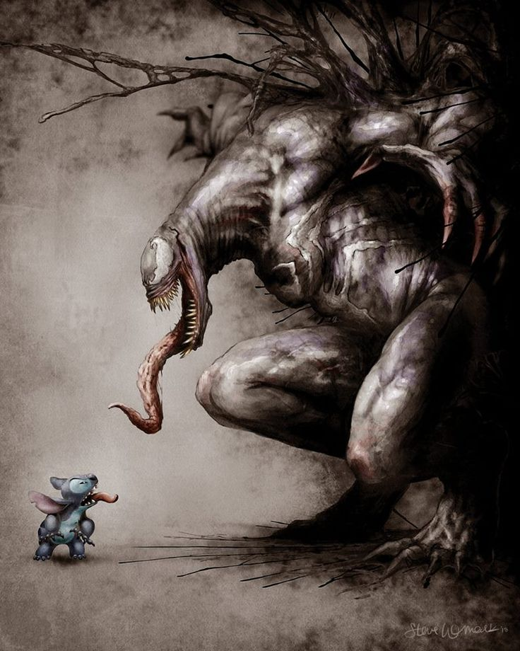 Stitch vs Venom by Steven Womack