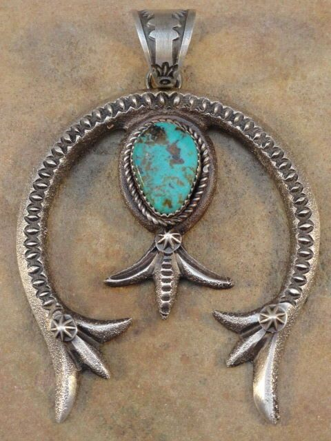 403 best squash blossom garden images on pinterest squash blossom old style navajo sterling silver turquoise naja pendant 13800 aloadofball Images