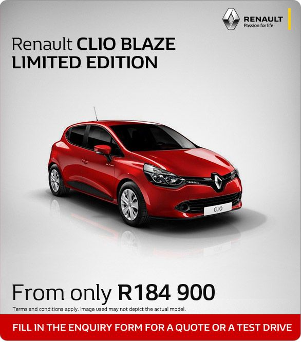 Renault Clio Blaze From Only R184 900
