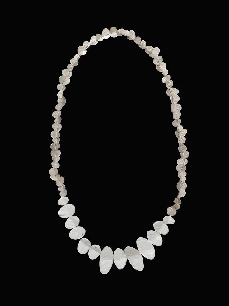 """Collier/Kette/Necklace """"Calades"""", Ag/Sb 925 , Cuir/Leder, Epoxy, Fil de Nylon / Nylonfaden"""