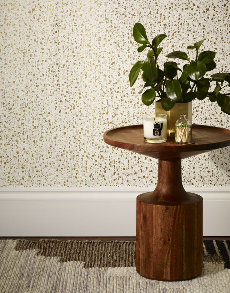 New: Snow (Gold) wallpaper designed in collaboration with Askov Finlayson!