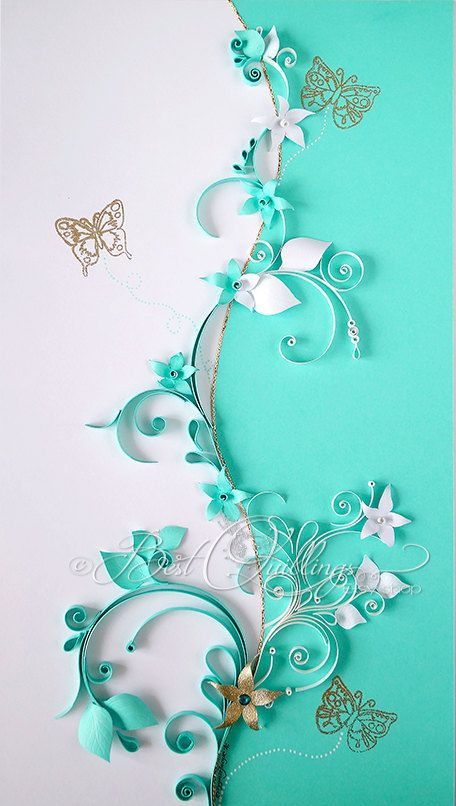 "Unique Original Quilling Art: ""Yin and Yang"" Paper Art,Free-standing Sparkle frame, Wall Art and Decor"