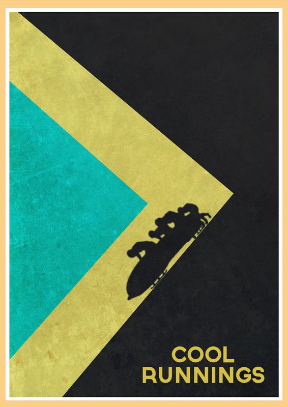 Cool Runnings Alternative Movie Poster by GlanPrints on Etsy, £8.99