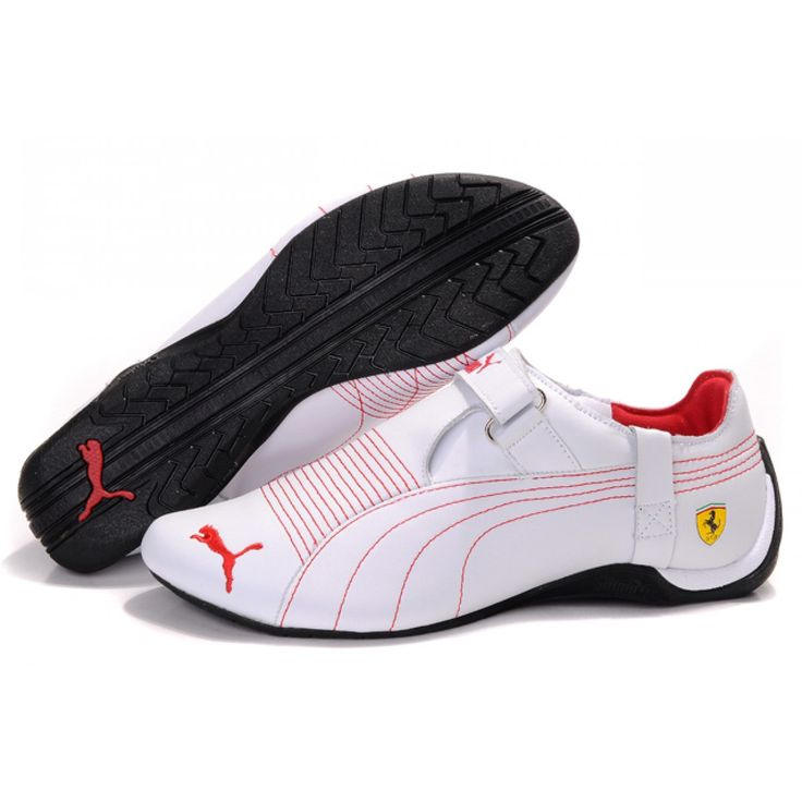 Puma Shoes White And Red