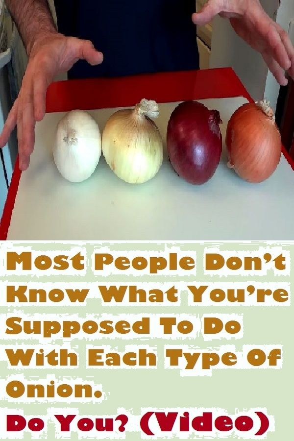 Most people don't know what you're supposed to do with each type of onion. Do you? (Video)