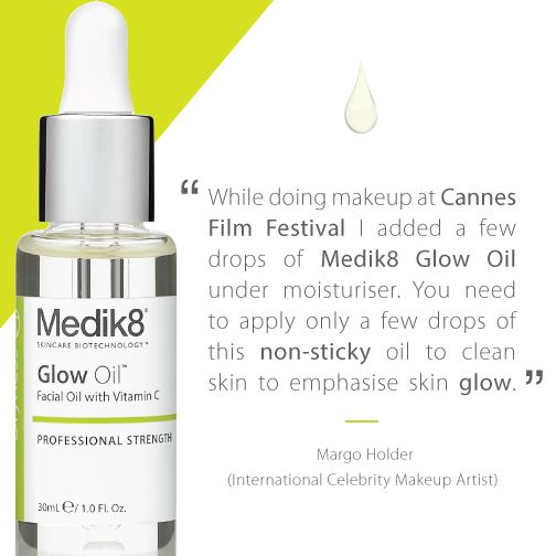 Glow oil is the perfect makeup base. It gives a wonderful glow to the skin, as well as intense hydration. Check out this tip from celebrity makeup artist Margo Holder.