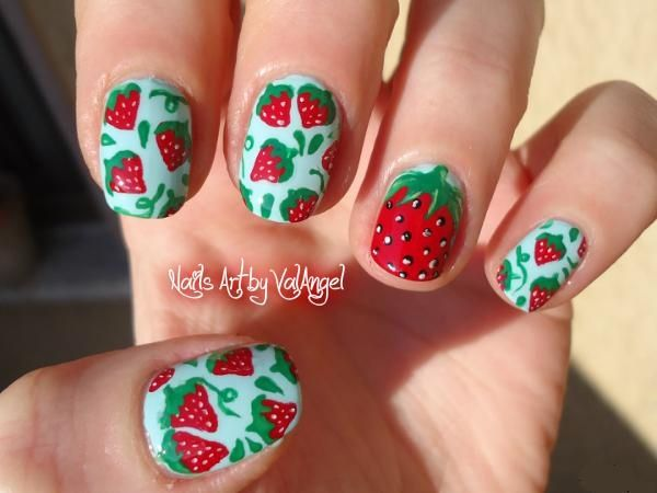 Nail art strawberry by ValangelNails from Nail Art Gallery - 72 Best Rockin' Strawberry Nails Images On Pinterest