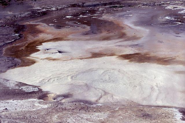 Porcelain Spring; Hot Springs, Norris Geyser Basin; Photographer unknown; 1968.