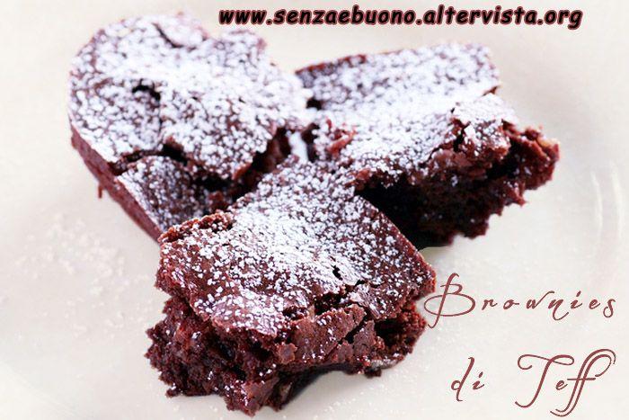 Teff Brownie al cacao, senza glutine e senza lattosio