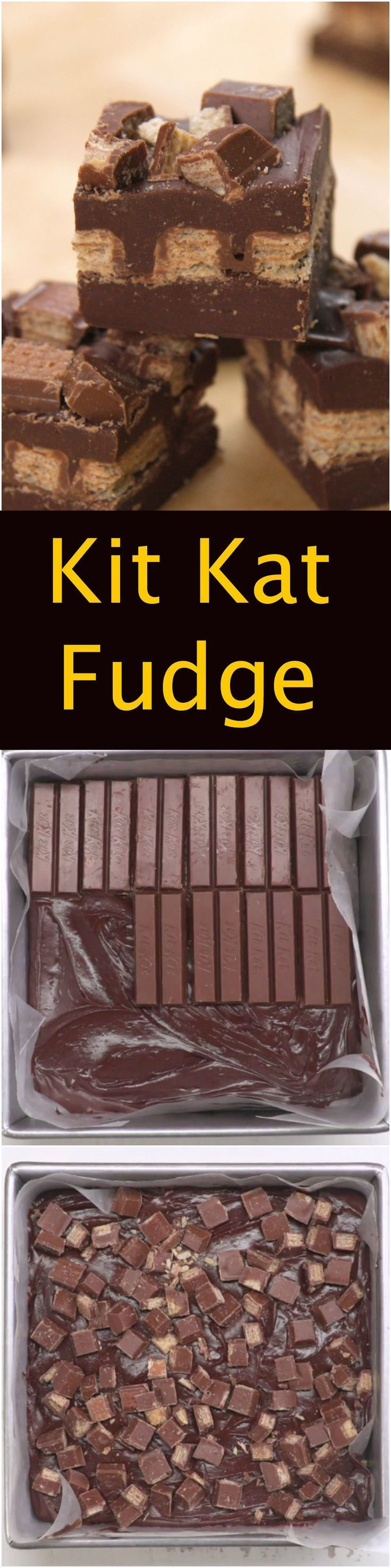 I love Kit Kat's and I love fudge so I thought why not combine them so I could get that nice crunchy wafer in a fudge bite. I had similar success with my Peanut