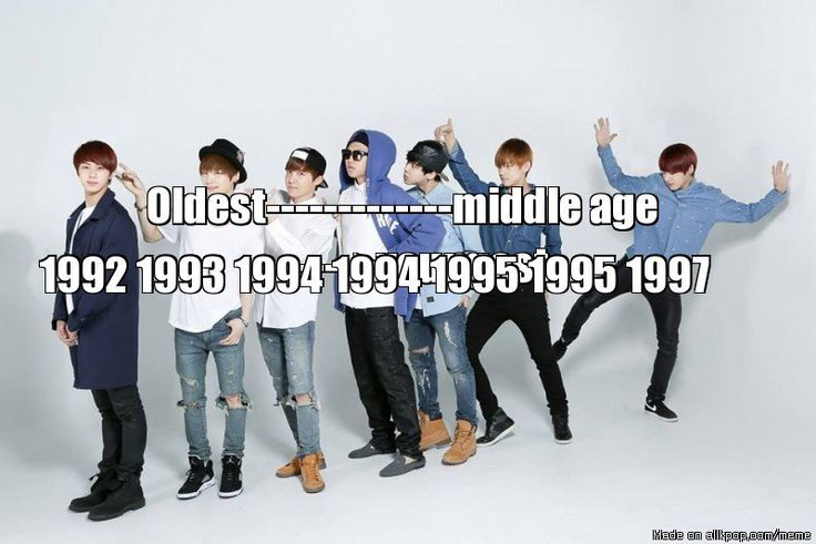 BTS age order. Oldest to youngest.