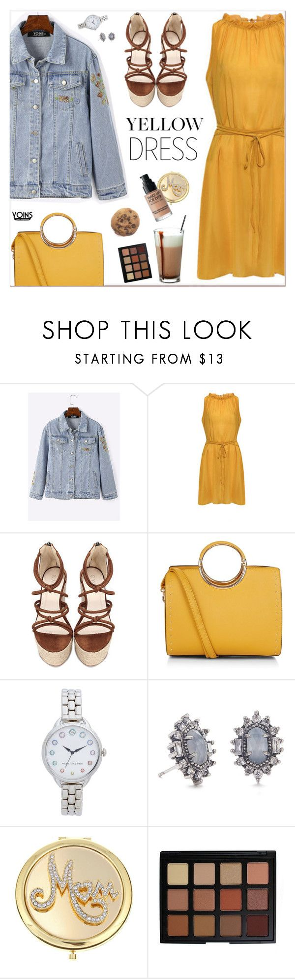 """""""yoins349"""" by nastenkakot ❤ liked on Polyvore featuring New Look, Marc Jacobs, Kendra Scott, Monet, Morphe, MAKE UP FOR EVER, yoins, yoinscollection and loveyoins"""