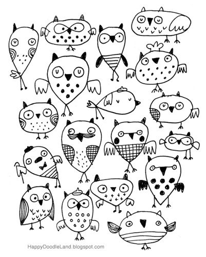 'Bedtime Owly Sketch' by Happy Doodle Land
