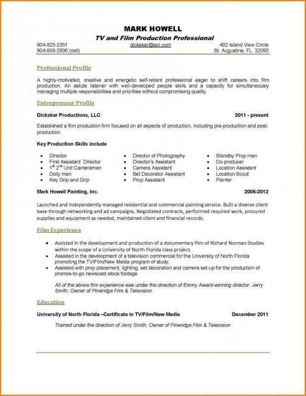 1 Page Resume Examples 1-Resume Examples Resume format examples